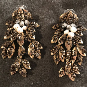 J Crew Cluster Drop Earrings